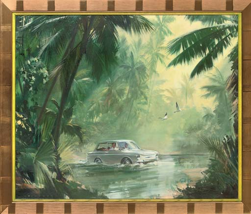 Hillman Imp (Calendar Illustration)