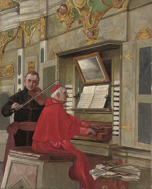 A duet at the organ