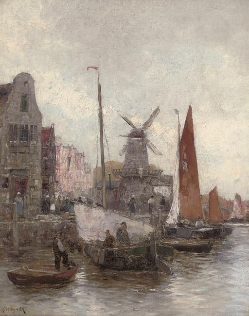 Vessels at a continental quay