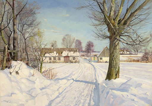 A winter track, Bagsvard