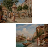 At the Well; and The Venetian Flower Seller