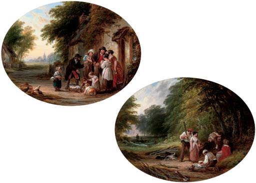 A travelling peddler; and A picnic