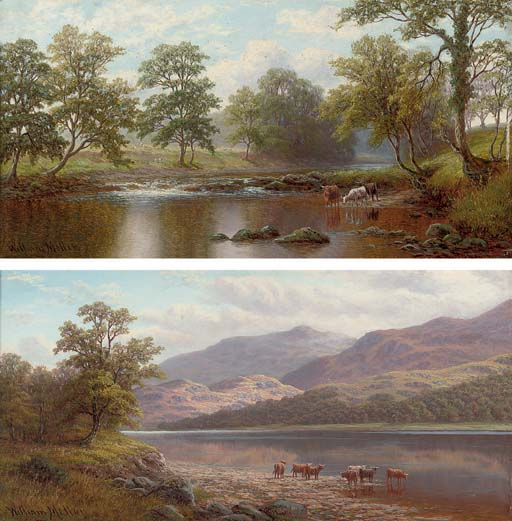 On the wharfe near Beamsley, Yorkshire; and Derwent Water, Cumberland