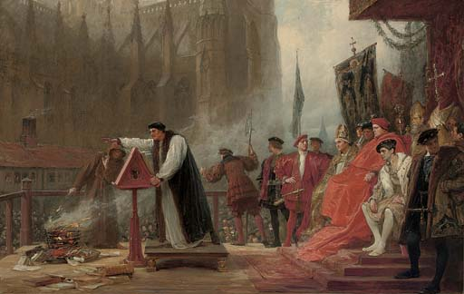The burning of Martin Luther's works