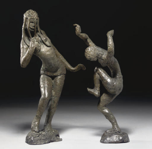 Two dancing figures