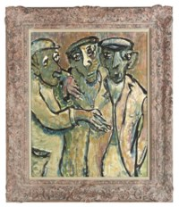 Three men with flat caps