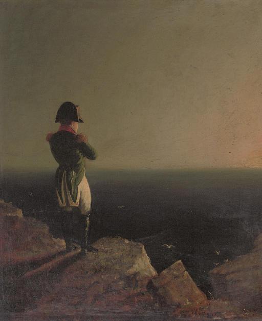 Napoleon Bonaparte musing at St Helena