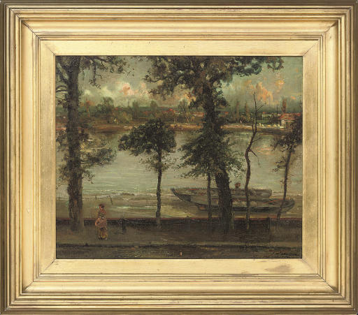 The Thames and Battersea from Cheney Walk, London