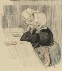 Two Breton girls