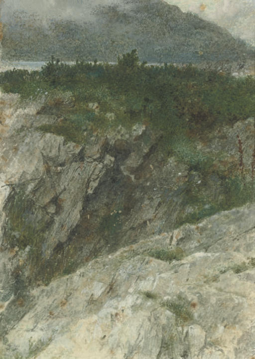 Study of a rocky promontory in the Highlands