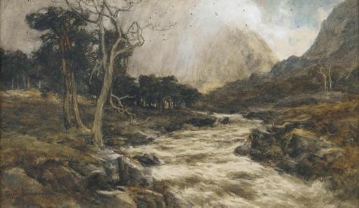A rushing stream
