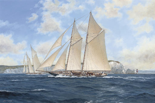 Kirin racing off the Needles, 1913