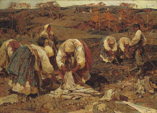 The Potato harvest in Belorussia