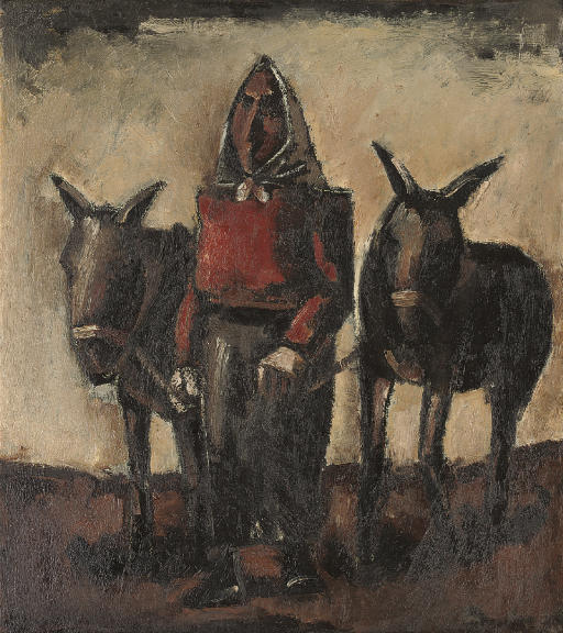 Woman with Donkeys