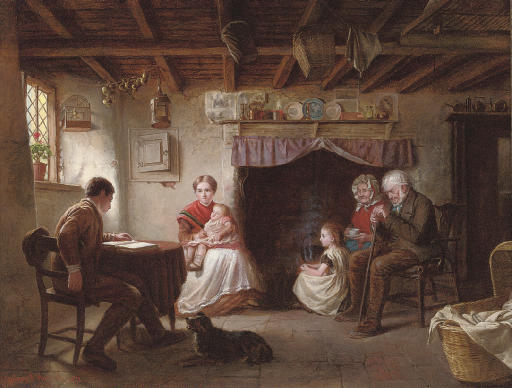 Sabbath evening in a shepherd's cottage
