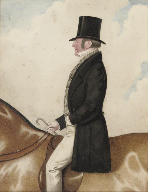 An elegant gentleman on horseback
