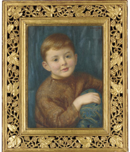 Portrait of Christopher Garnett, half-length, as a child