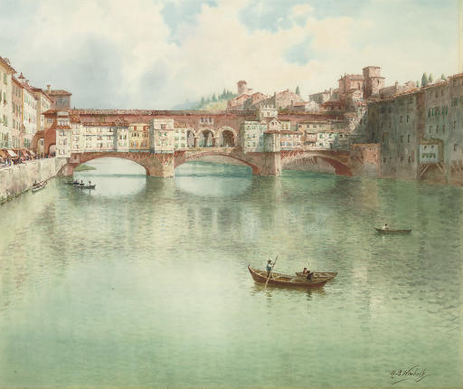 The Ponte Vecchio on the River Arno, Florence