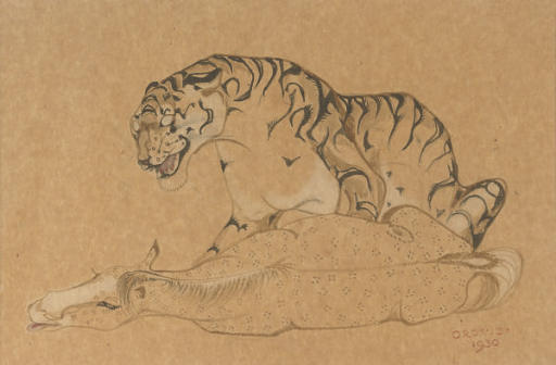 Tiger and horse