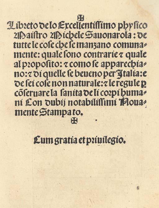 SALÉ, Romble (d. 1679). Then Frantzöske-Kocken och Pasteybakaren, Lärandes huru allehanda slags Maath, Rätter, Pastener, Tartor, Smörbakelser, kokas och sillagas skola. Stockholm: Ignatius Meurer, 1664. 8°. (lower margins dampstained throughout with short tears in title and a few other leaves and crude repairs in O1 & 8, with slight loss of text in O1, oilstain at head of A1-D4). Modern vellum. FIRST EDITION. Collijn 817-818.