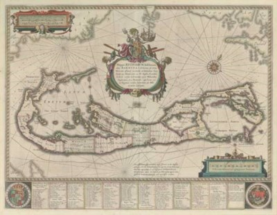 BLAEU, Willem (1571-1638). Map