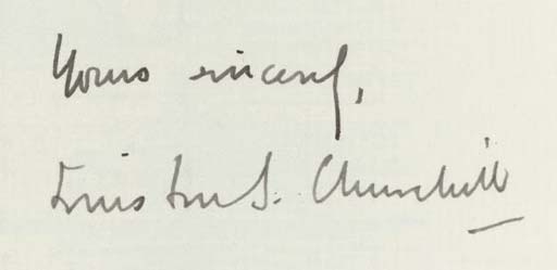 CHURCHILL, Sir Winston Leonard Spencer (1874-1965). Typed letter signed ('Winston S. Churchill') to Sir Joseph Maclay (at the Ministry of Shipping), Ministry of Munitions of War, 11 September 1917, thanking him for suggestions on the use of waste material, 'As you are probably aware we are doing a great deal in the direction of the utilisation of scrap metals', autograph superscription, one page, 4to.