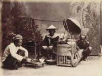 An interesting collection of photographs of scenes in The Dutch East Indies and Egypt, including views of Josari, Java; a Temple compex believed to be Borobudur; The interior of a volcano crater, possibly Mount Bromo; Indonesian villages and tribal people; The Sphinx and Pyramid; Suez; Port Said and others contained in an album