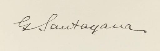SANTAYANA, George (1863-1952).
