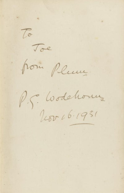 WODEHOUSE, P. G.  Jeeves Omnib
