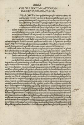 GELLIUS, Aulus (c.130-180 A.D.