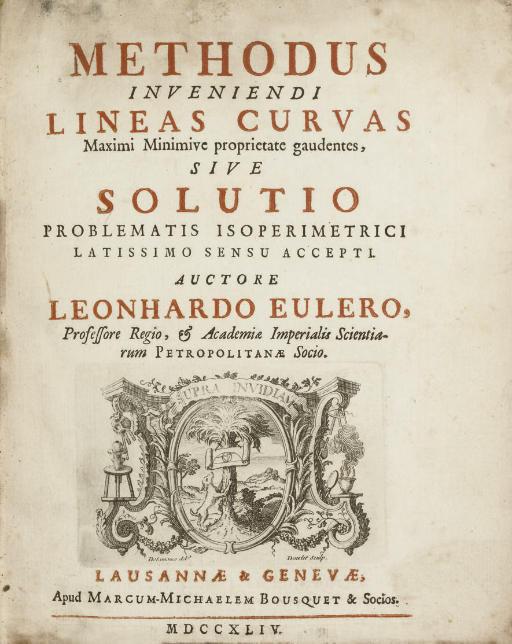 EULER, Leonhard (1707-1783). M