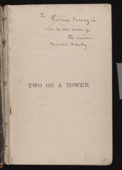 HARDY, Thomas (1840-1928). Two