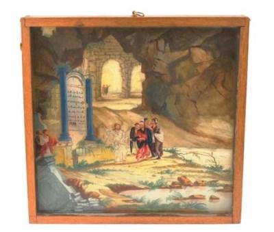 Ecclesiastical diorama c.1794