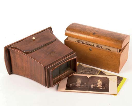 Stereoscope and stereocards