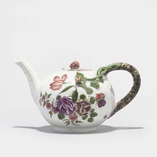 A COZZI TEAPOT AND COVER