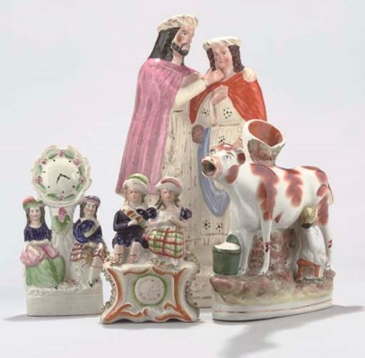 TWELVE VARIOUS STAFFORDSHIRE P