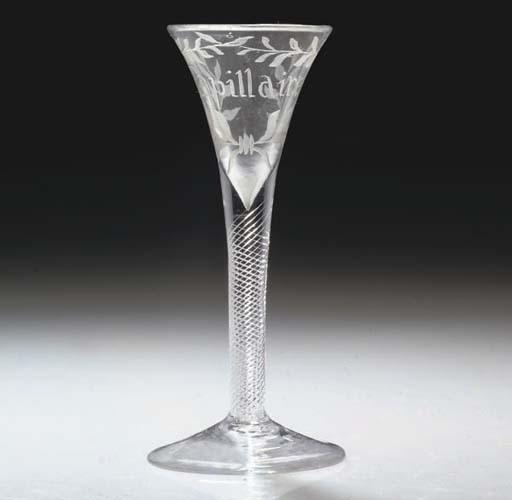 AN AIRTWIST DRAWN-TRUMPET GLAS