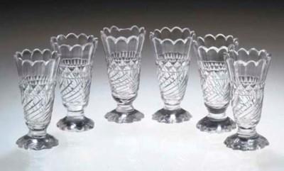A SET OF SIX JELLY-GLASSES