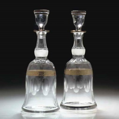 TWO PAIRS OF DECANTERS AND STO