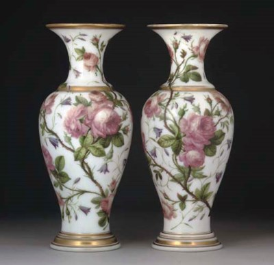A PAIR OF FRENCH OPALINE BALUS