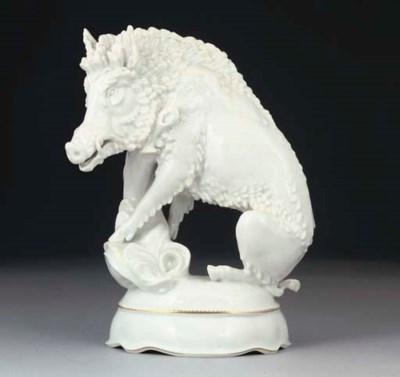 A MEISSEN WHITE MODEL OF A BOA