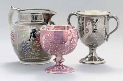 A GROUP OF ENGLISH LUSTREWARE