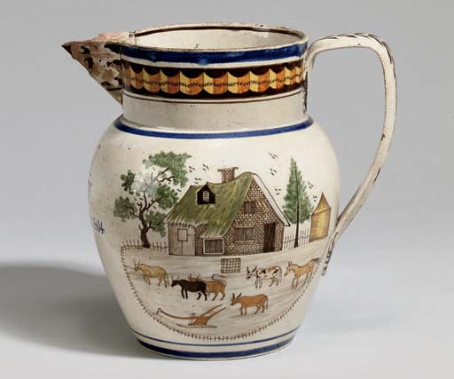 AN ENGLISH POTTERY PRATT WARE
