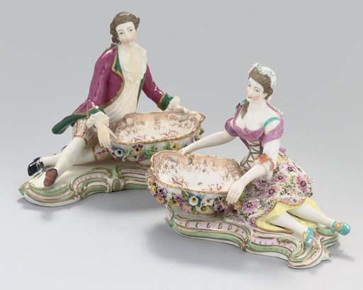 A PAIR OF MINTON SWEETMEAT DIS