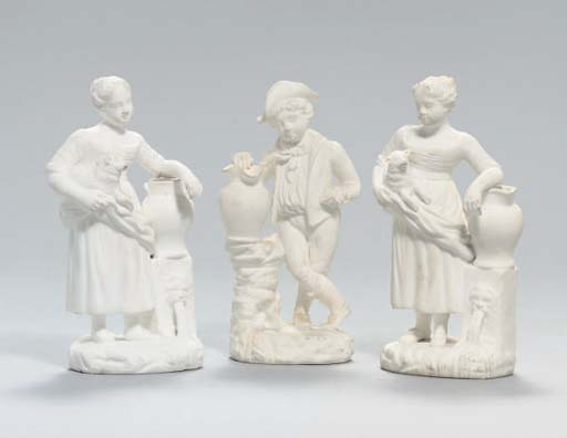 TWO MINTON BISCUIT PORCELAIN F
