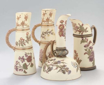 FOUR ROYAL WORCESTER BLUSH-IVO