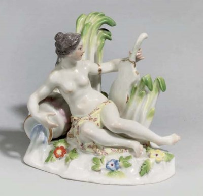 A MEISSEN FIGURE OF A WATER NY