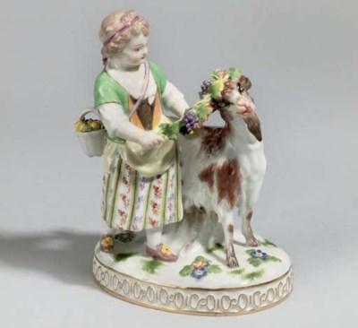 A GROUP OF MEISSEN DISHES AND