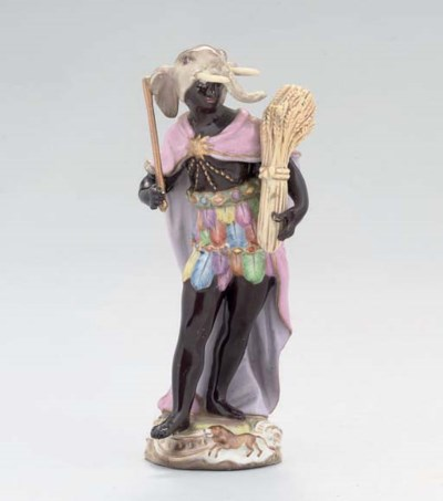 A MEISSEN FIGURE EMBLEMATIC OF
