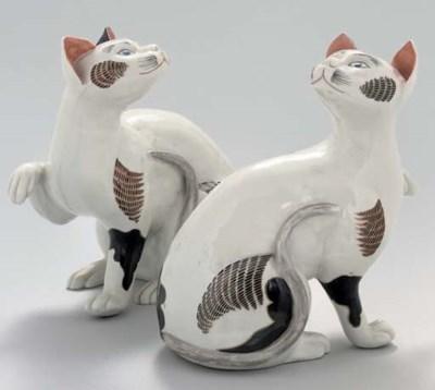 A PAIR OF SAMSON MODELS OF CAT